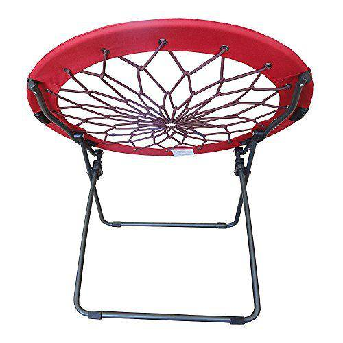 Round Bungee Chair Red Folding. Key Features: Steel Frame.