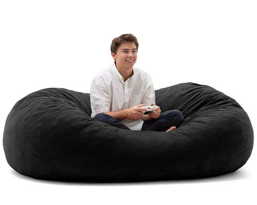 Big-Joe-XL-Fuf-Black-Bean-Bag-Chair