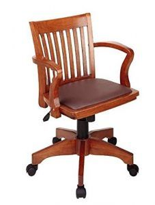Natural Wood Bankers Desk Chair