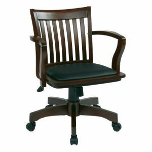 Avenue 6 Office Star 108ES-3 Deluxe Wood Bankers Chair