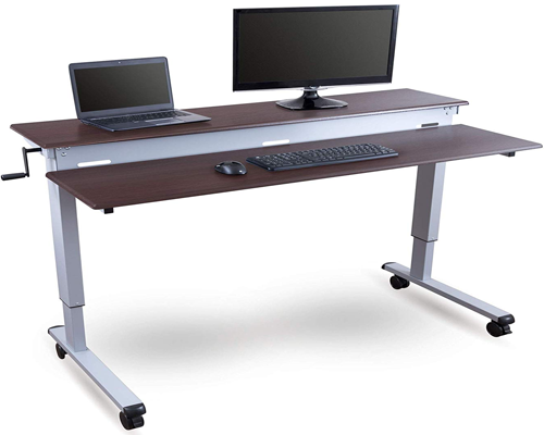 60 Crank Adjustable Sit to Stand Up Desk