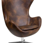 Bomber Jacket Leather Egg Chair