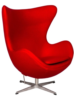LeisureMod Arne Jacobsen Style Egg Chair