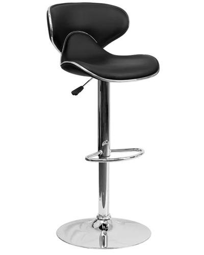 New Modern Adjustable Synthetic Leather Swivel Bar Stools