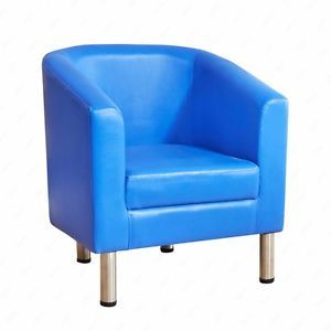 PU Leather Tub Chair Club Office Reception Armchair Bucket Seat