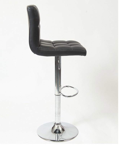 Roundhill Furniture Swivel Leather Adjustable Hydraulic Bar Stool