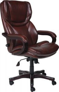 Bonded Leather Big & Tall Executive Chair by Serta