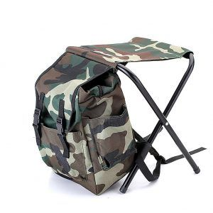 Tinghan Camouflage Backpack Cooler Bag Chair