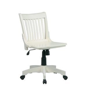 Armless Wooden Bankers Chair