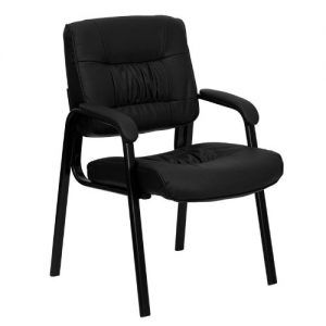 Flash Furniture BT-1404-GG Black Leather Guest/Reception Chair