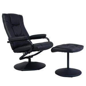 Recliner Chair Swivel Armchair Lounge Seat by Giantex