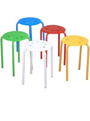 go2buy-5-Color-Portable-Plastic-Stackable-Stools