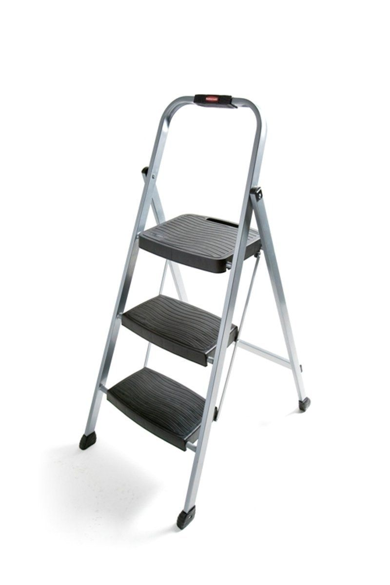 Rubbermaid RM-3W Folding 3-Step Steel Frame Stool