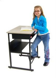 Standup Desk With Footrest Bar