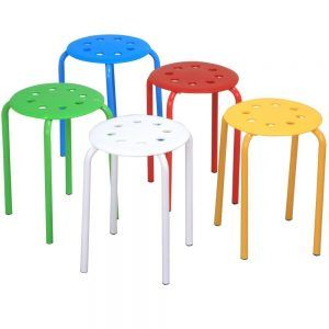 World Pride Set of 5 Round Plastic Stacking Stools