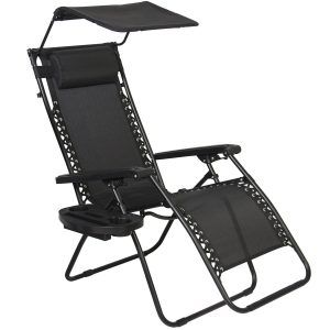 Zero Gravity Canopy Sunshade Lounge Chair by Best Choice Products