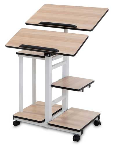 Mobile-Workstation-Cart-Standing-Computer-Desk-from-BUREI