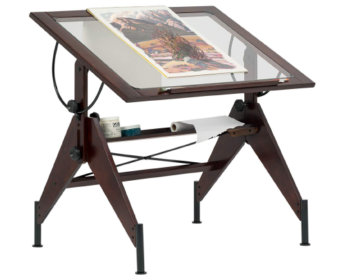 STUDIO DESIGNS 13310 Glass Top Drafting Table
