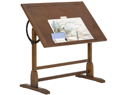 Studio Desiges 13305 Rustic Oak Drafting Table
