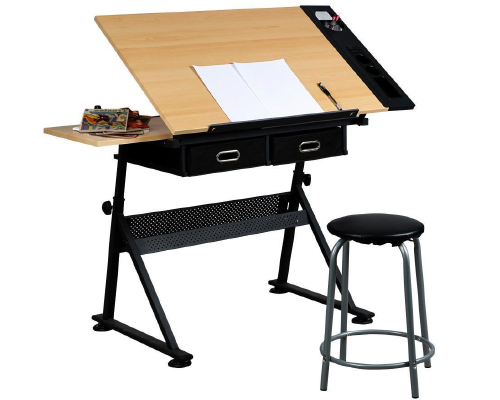 Yaheetech Adjustable Drawing Table